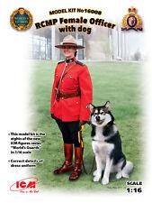 ICM 1/16 RCMP da donna ufficiale con cane #16008