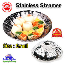 1x Folding Stainless Steamer Basket Mesh Food Dish Vegetable Kitchen Dryer Steam