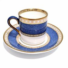 Wedgwood Ulander W2376 Powder Blue Demitasse Espresso Cup and Saucer Gold Gilt