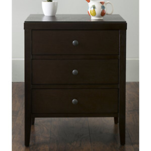 3 - Drawer Solid Wood Nightstand