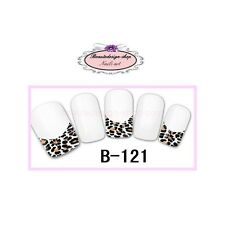 Water decal pour ongles  - french manucure leopard  b-121