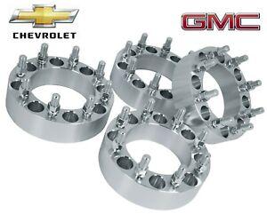 "4 Pc Chevrolet Silverado 2500 hd 3500 hd 8 Lug Duramax Diesel  2""  Wheel Spacers"
