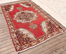 Turkish Rug 55''x91'&# 039; Vintage Muted Color Oriental Rug Wool Carpet 141x233cm