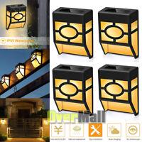 4x Solar Lantern Wall Mount Light LED Yard outdoor Patio Garden Lamp Waterproof