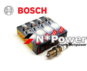 BOSCH IRIDIUM SPARK PLUG SET FOR MITSUBISHI LANCER RALLIART CJ 08-18 4B11 TURBO