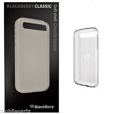 Genuine BlackBerry Q20 Classic White Soft Shell Case Cover ACC-60086-002 Boxed