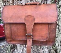 New Men Vintage Leather Messenger Briefcase Satchel Shoulder Laptop Bag Hikking