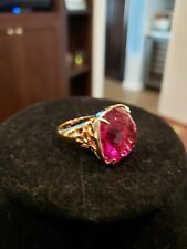 Swarovski Pink Stone with Gold Color Ring