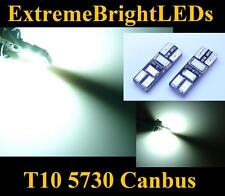 2x Xenon HID WHITE 2825 W5W 6-SMD 5730 Canbus Error Free LED Parking Lights #11B