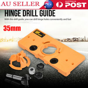 35mm Concealed Hinge Jig Boring Hole Drill Guide Cutter Bit Wood Cutter Set New