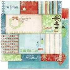"""2 sheets Bo Bunny Blitzen 12x12"""" Paper - double sided """"Patchwork"""""""