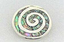 Solid .925 Sterling Silver 5.5 g Vintage Paula Shell Pin Pendant Real