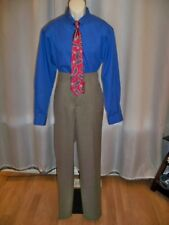 SAVANE TAUPE FLAT FRONT STRAIGHT FIT & LEG CLASSIC TAILORED PANTS 34/34 NWT
