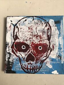 Hasworld Original Painting Expressionism  Contemporary Art Skull Abstract Style