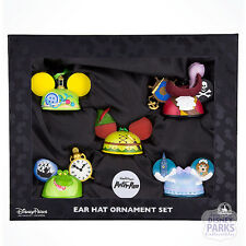 Disney Parks Peter Pan Ear Hats Holiday Ornament Hat Set