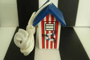 BEACH HUT & LIGHTHOUSE BATHROOM/SHOWER LIGHT PULLS X 3 - NEW