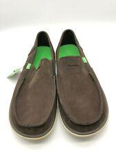 SANUK Vagabond Tripper Suede Shoes Loafers Dark Brown Mens Size 11 New