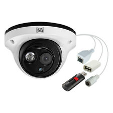 MX CCTV IP Camera Outdoor Dome 1MP 3.6mm Lens Array LED W/ USB - MX ULIPU1VD7AR