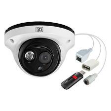 MX CCTV IP Camera Outdoor Dome 1MP 3.6mm Lens Array LED W/ USB - MX ULIPU1VD7AR
