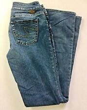 Womens SILVER JULIA Jeans Med Wash Bootcut Sz 28/33 Stretchy E5