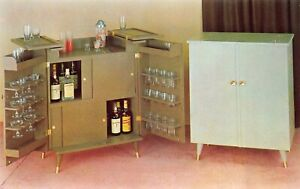 Advertising PC Liquor Cabinet & Serving Bar Finishing Co Milwaukee, WI~130041