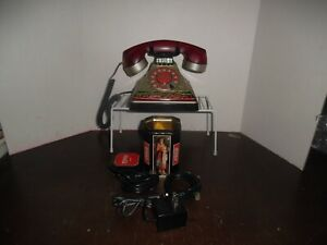 Vintage Coke Coca Cola Stained Glass Look Desk Pushbutton Phone