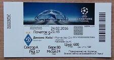 Tickets Dynamo Kyiv - Manchester City England 2016