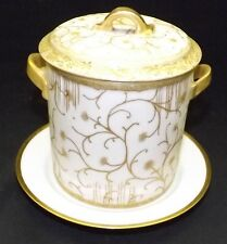 Haviland & Co. Hand Painted at Factory Condensed Milk Holder / Jar 1890 C. Field