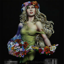1/10 Scale Unpainted Spring Girl Bust Resin Kits GK Unassembled