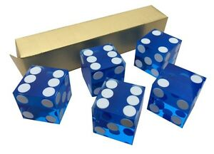 PERFECT 19MM PRECISION CASINO DICE / CRAPS STUNNING - 5 COLOURS +QUANTITY CHOICE