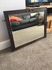 Antique Arts & Crafts Design Wood Framed Shabby, Old Mirror  - Heavy