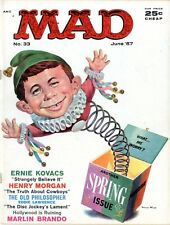 Mad   #33    June 1957   VF-   Another Spring Issue