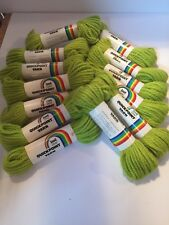 Lot - 13 Skeins Of New Vintage Scovill Dritz Quickpoint Yarn Spring Green