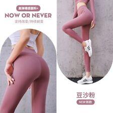 Lady YOGA Pants Womens High Waist Gym Leggings size M Pink