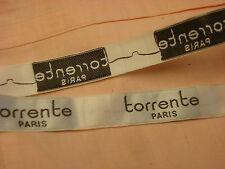 ANCIEN GALON étiquettes  TORRENTE PARIS   (92)    & ANTIQUE TRIM