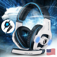 Gaming Headset Earphone Over Ear Gaming Headphones with Mic Stereo for PC Laptop