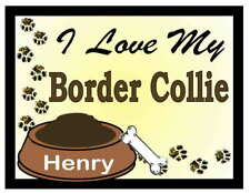 BORDER COLLIE PERSONALIZED I Love My Border Collie MAGNET