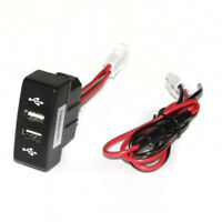 Black Dual USB Dashboard Phone Charger Adapter Truck Outlet For Mercedes Actros