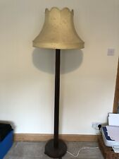 1960's Oatmeal Standing lamp - Large Shade - Amazing Condition.