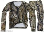 Spring Outdoor  Bionic Camouflage clothing Bow Sniiper Hunting Suit Tshirt Pants