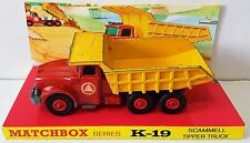 Lesney MATCHBOX Series K-19 KING SIZE Scammell Tipper Truck Model & Display [b]