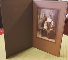 "5X7"" Antique 1920's FAMILY PHOTO w BABY in Gallery Paper Frame Scrapbook Photo"