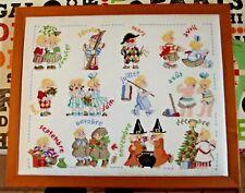 Embroidery star cross stitch kit diy Children Cartoons Blond Manga mosaic canvas