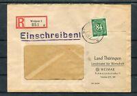 Einschreiben Weimar 84 Pfg. EF - b5325