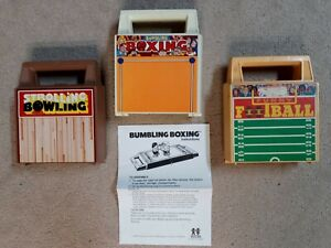 Tomy Strolling Bowling + Bumbling Boxing + Funny Football Vintage Wind Up Lot