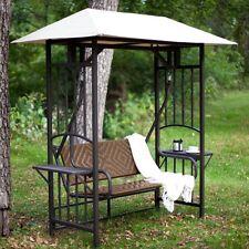 Outdoor Patio Swing Wicker Seat Gazebo Canopy Shade Garden Yard Deck Furniture