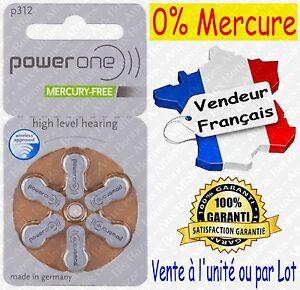Piles/Battery VARTA A312 P312 pour Appareil Auditif : code MARRON ( 0% Mercure )