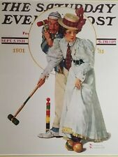 "Norman Rockwell Vintage Poster Print 17"" x 22"" 1931 croquet U"
