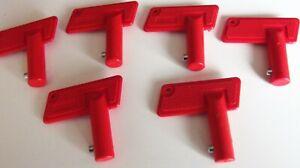 6  x Spare Keys For Battery Isolator Switch 100A 12v Cut Off Power Kill Key