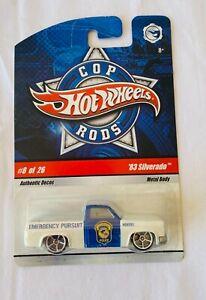 HOT WHEELS Cop Rods 83 Chevy Silverado Diecast Truck #8 2008 Mattel FREE POST A
